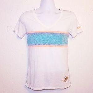 #1098 Nike Dolphins NFL Tee Shirt Small Dri Fit